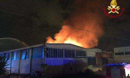 Inferno a Badia Polesine, capannoni distrutti dalle fiamme