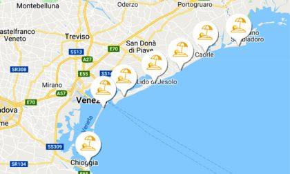 Andare al mare sul litorale: arriva la web app delle spiagge di Venezia