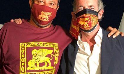 Luca Zaia e Matteo Salvini oggi a Rovigo