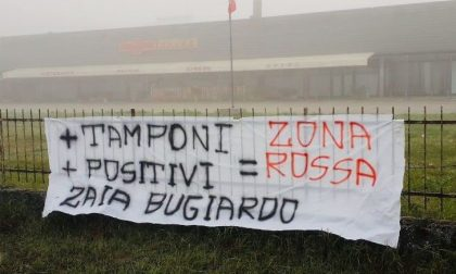 """Striscione Forza Nuova anche a Rovigo sul pericolo zona rossa: """"Zaia bugiardo"""""""
