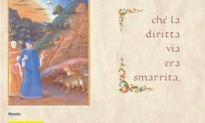 Una cartolina filatelica per il Dantedì disponibile negli uffici postali di Rovigo e Adria