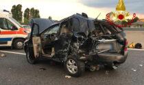 Le foto dello schianto in A13 tra Boara Pisani e Monselice, tre feriti