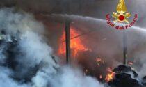 Incendio a Corbola in un capannone contenente oltre 2mila quintali di foraggio
