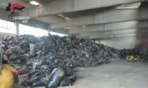 Scoperto grosso traffico illecito di scarti tessili, usati capannoni in disuso anche a Rovigo