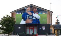 L'abbraccio di Wembley diventa un murales ad Adria, si attende Mancini per l'inaugurazione